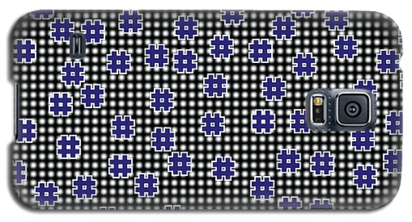 Blue Floating Squares Galaxy S5 Case