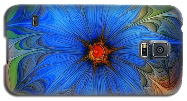 Blue Flower Dressed For Summer Galaxy S5 Case