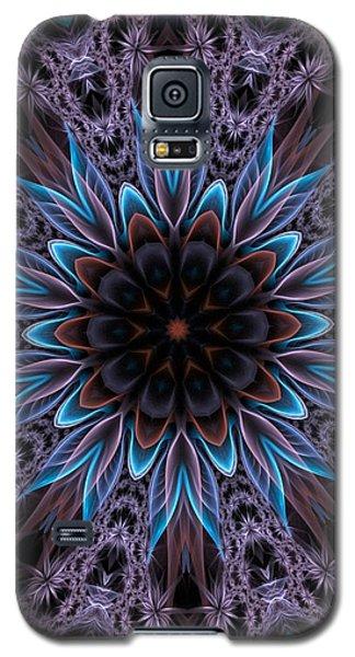 Galaxy S5 Case featuring the digital art Blue Flower by Lilia D