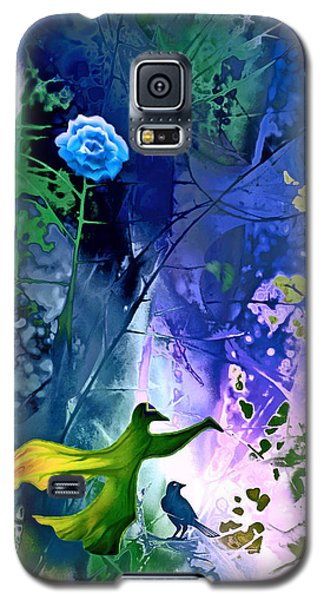 Blue Flower With Guardian Galaxy S5 Case