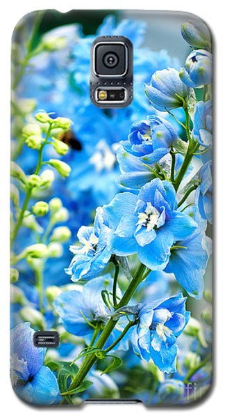 Blue Flowers Galaxy S5 Case