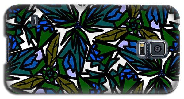 Galaxy S5 Case featuring the digital art Blue Flowers by Elizabeth McTaggart