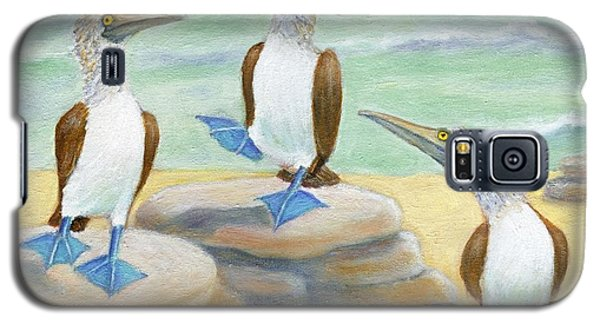 Galaxy S5 Case featuring the painting Blue-footed Boobies by Jeanne Kay Juhos
