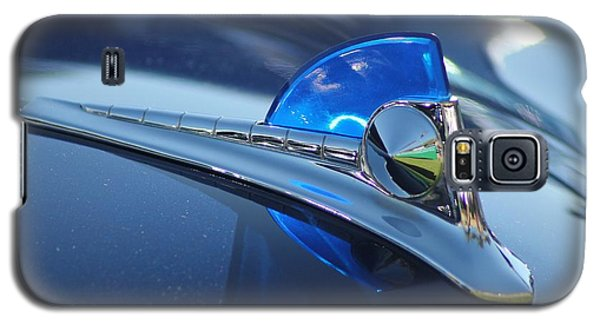 Galaxy S5 Case featuring the photograph Blue Ford Hood Ornament by Dodie Ulery