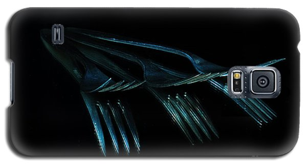 Galaxy S5 Case featuring the photograph Blue Forks by Randi Grace Nilsberg