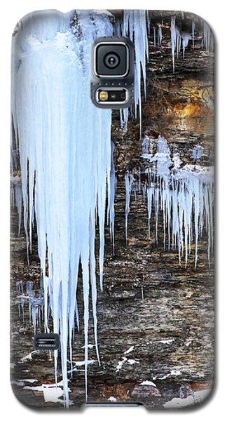 Blue Frozen Icicle Stalactites Galaxy S5 Case