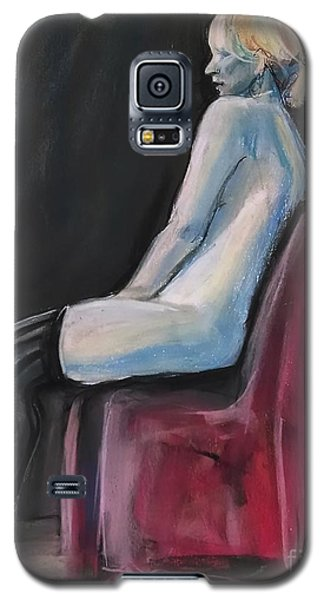 Galaxy S5 Case featuring the drawing Blue by Gabrielle Wilson-Sealy