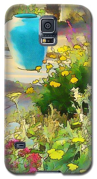 Blue Garden Pot Galaxy S5 Case by Douglas MooreZart
