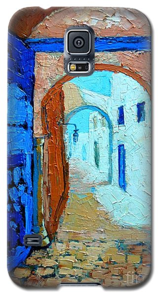 Galaxy S5 Case featuring the painting Blue Gate by Ana Maria Edulescu