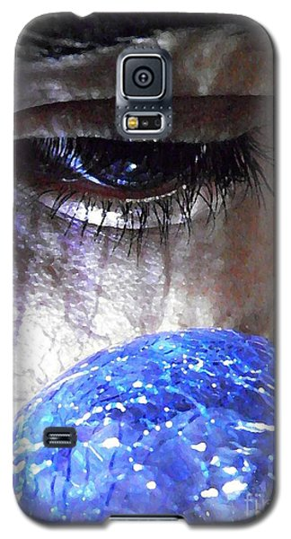 Blue Glass World Galaxy S5 Case by Sarah Loft