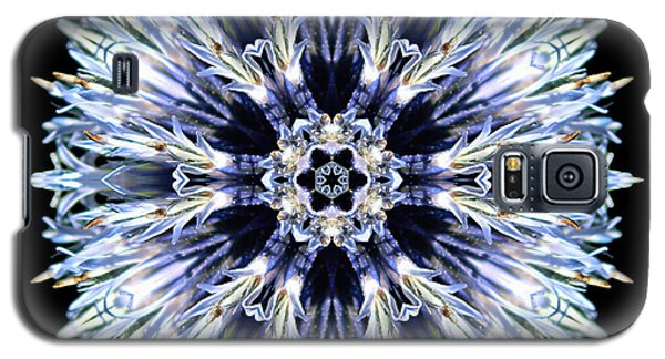 Blue Globe Thistle Flower Mandala Galaxy S5 Case