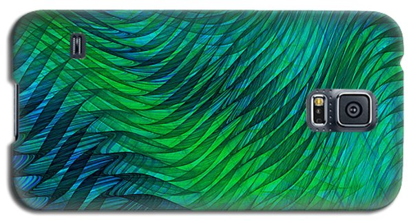 Blue Green Fabric Abstract Galaxy S5 Case
