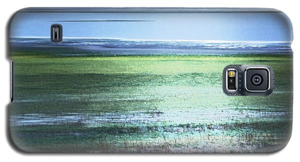 Blue Green Landscape Galaxy S5 Case