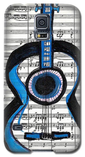 Blue Guitar Music Galaxy S5 Case by Ecinja Art Works