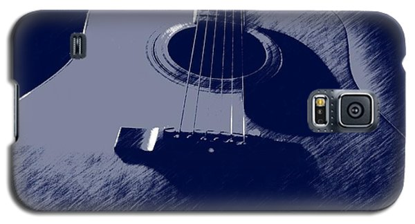 Galaxy S5 Case featuring the photograph Blue Guitar by Photographic Arts And Design Studio