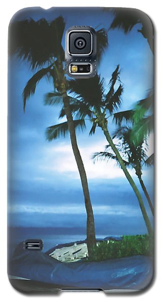 Blue Hawaii With Planets At Night Galaxy S5 Case by Connie Fox