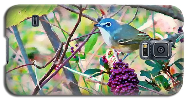 Galaxy S5 Case featuring the photograph Blue-headed Vireo by Peg Urban