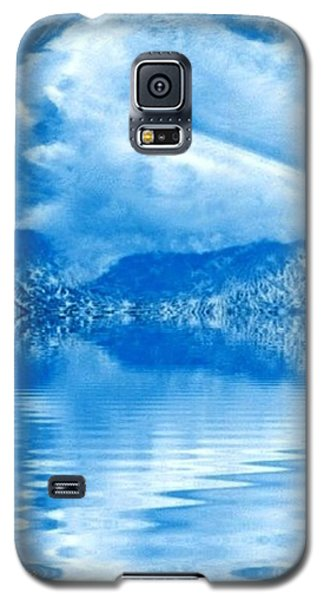 Galaxy S5 Case featuring the mixed media Blue Healing by Ray Tapajna