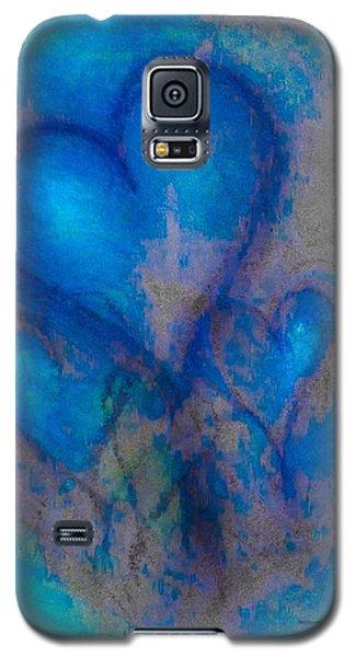 Blue Hearts Galaxy S5 Case