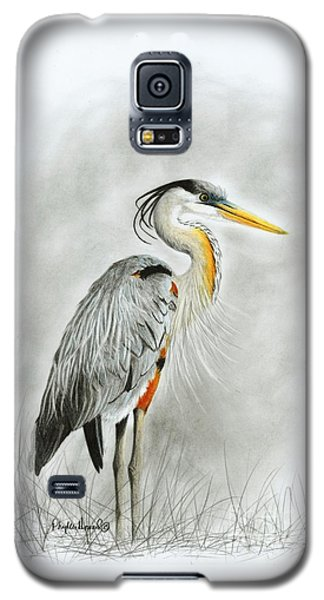 Blue Heron 3 Galaxy S5 Case by Phyllis Howard