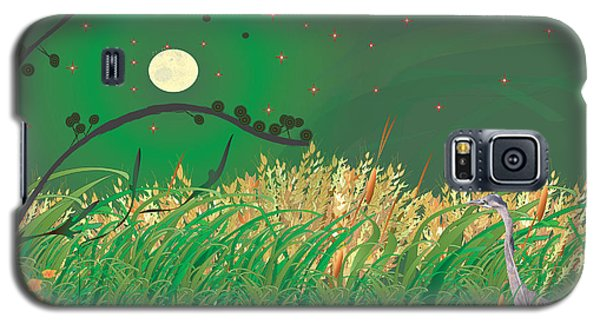 Blue Heron Grasses Galaxy S5 Case by Kim Prowse