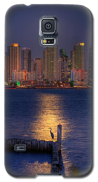 Blue Heron Moon Galaxy S5 Case