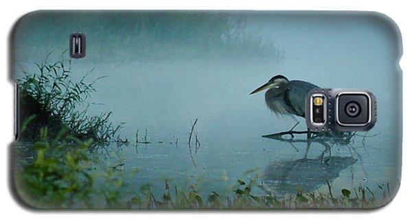 Blue Heron Morning Galaxy S5 Case