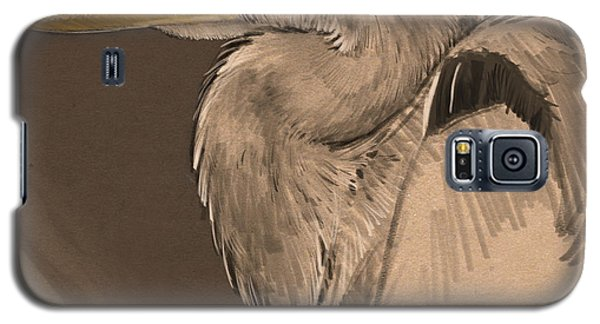 Blue Heron Sketch Galaxy S5 Case by Aaron Blaise