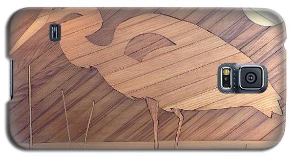 Galaxy S5 Case featuring the painting Blue Heron by Stan Tenney