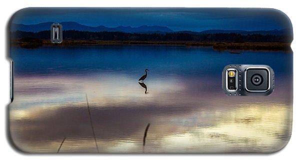 Blue Heron Sun Set Galaxy S5 Case