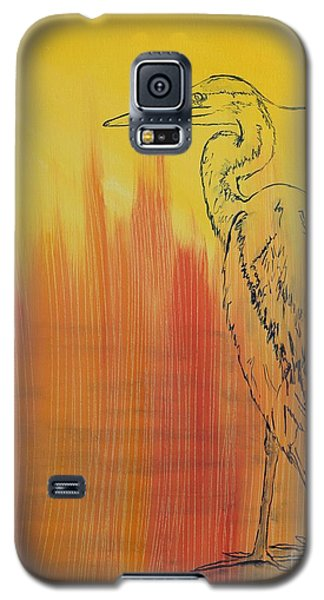 Blue Heron Galaxy S5 Case by Susan Fisher