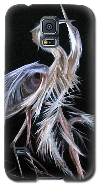 Blue Herons Mating Dance Galaxy S5 Case by LaVonne Hand