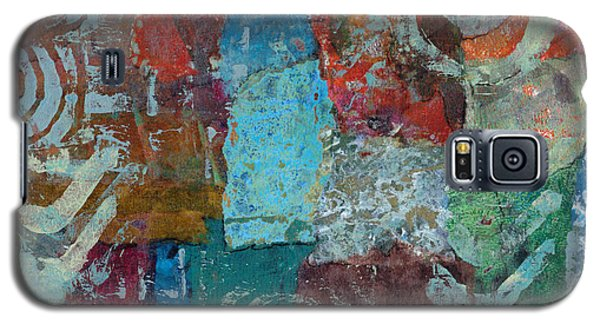 Galaxy S5 Case featuring the mixed media Blue House by Catherine Redmayne
