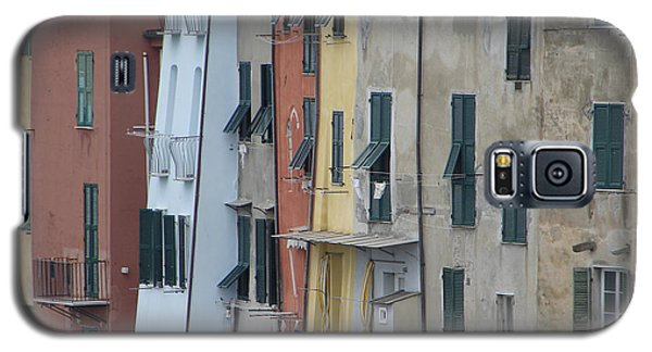 Blue House Portovenere Italy Galaxy S5 Case