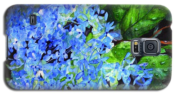 Blue Hydrangea After The Rain Galaxy S5 Case