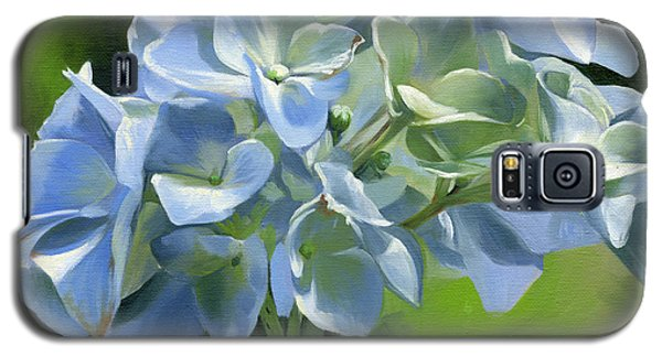 Galaxy S5 Case featuring the painting Blue Hydrangea by Alecia Underhill