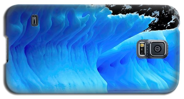 Galaxy S5 Case featuring the photograph Blue Iceberg by Amanda Stadther