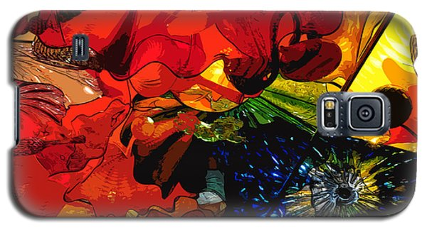 Galaxy S5 Case featuring the digital art Blue In A Playground Of Red by Kirt Tisdale