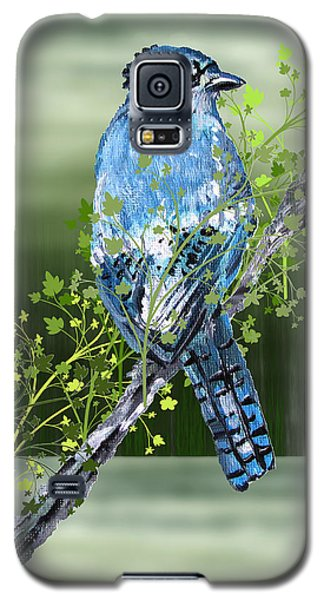 Blue Jay Mixed Media Galaxy S5 Case