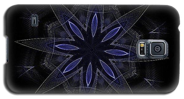 Blue Lace Fractal Mandala Galaxy S5 Case