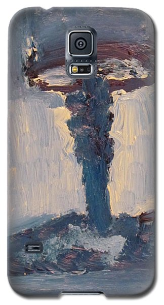 Galaxy S5 Case featuring the painting Blue Lamp by Shea Holliman