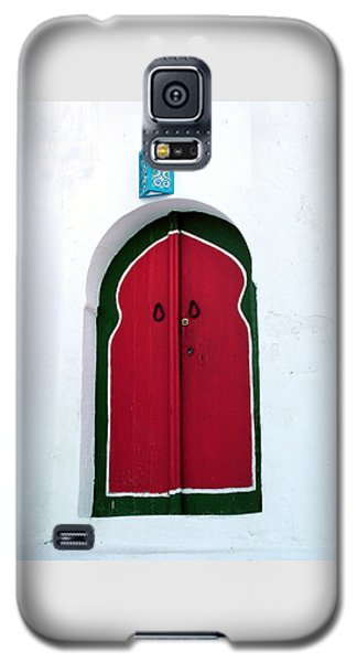 Blue Lantern Over Red Door Galaxy S5 Case