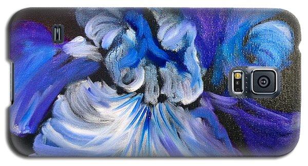 Blue/lavender Iris Galaxy S5 Case by Jenny Lee