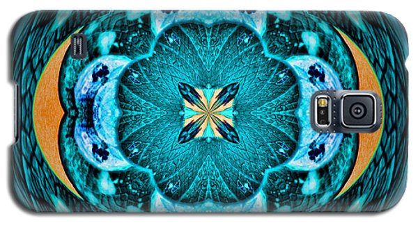 Blue Leaf Mandala Kaleidoscope Galaxy S5 Case