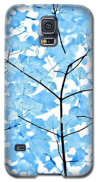 Blue Leaves Melody Galaxy S5 Case by Jennie Marie Schell