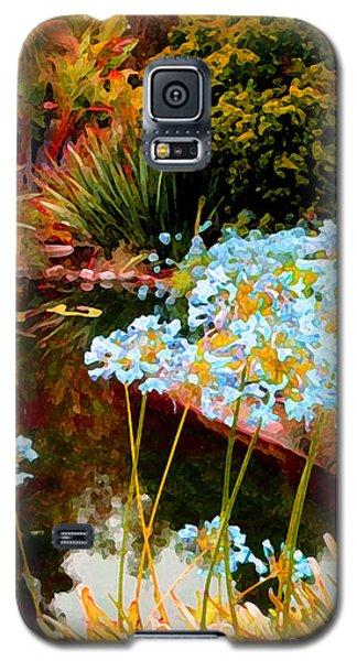 Blue Lily Water Garden Galaxy S5 Case