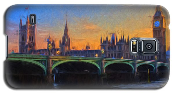 Galaxy S5 Case featuring the painting Blue London by Douglas MooreZart