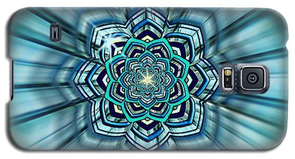 Blue Lotus Mandala Galaxy S5 Case by Deborah Smith