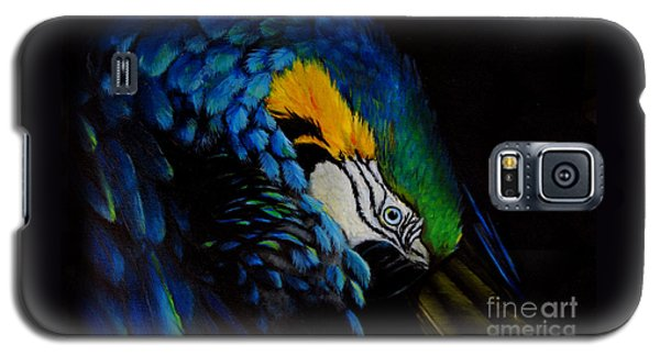 Blue Macaw Galaxy S5 Case