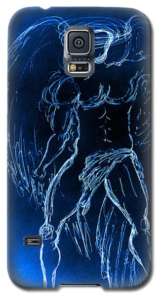 Blue Male Angel Galaxy S5 Case
